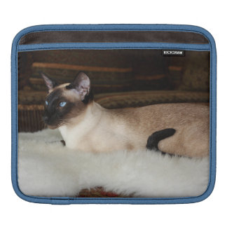 Elegant Siamese Cat iPad Sleeve