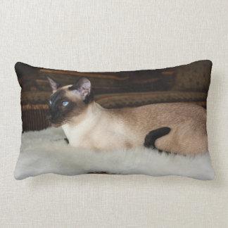Elegant Siamese Cat Lumbar Pillow