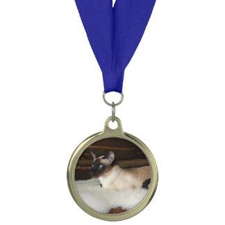 Elegant Siamese Cat Medal