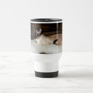 Elegant Siamese Cat Travel Mug