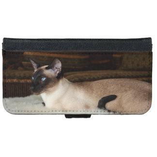 Elegant Siamese Cat Wallet Phone Case For iPhone 6/6s