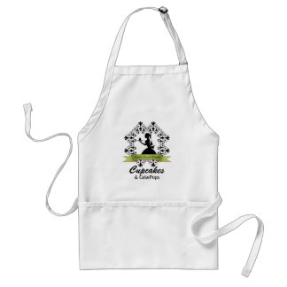 Elegant Silhouette Woman Bakery Business Apron