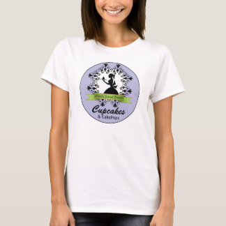 Elegant Silhouette Woman Bakery Business T-Shirt