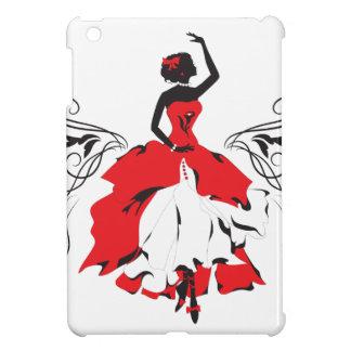 Elegant silhouette woman in dance Floral ornament Case For The iPad Mini