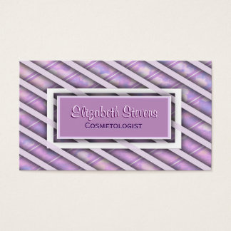 Elegant Silk Ribbon Weave Business Card