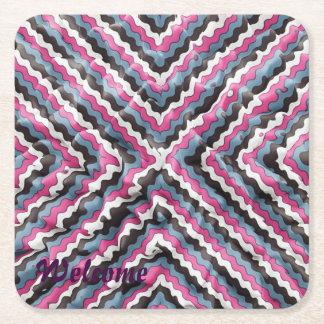 elegant silk square paper coaster