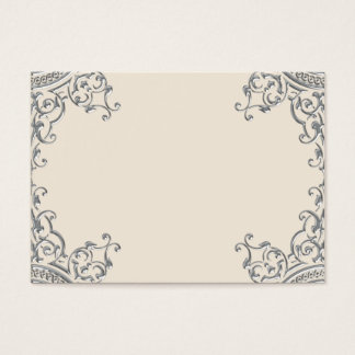 Elegant Silver and Beige Business Card