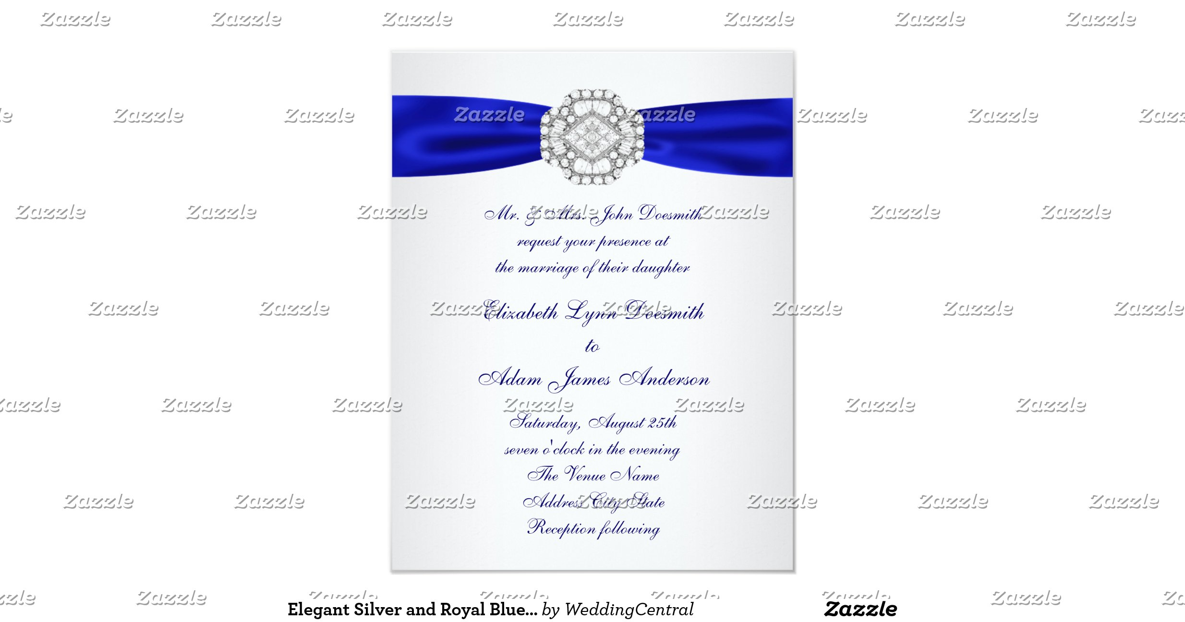 Royal Blue Wedding Invitations. Silver And Burgundy Wedding Colors - MTM