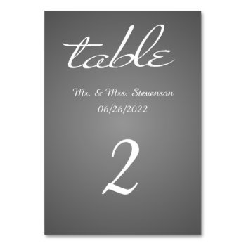 Elegant Silver and White Name and Date Card