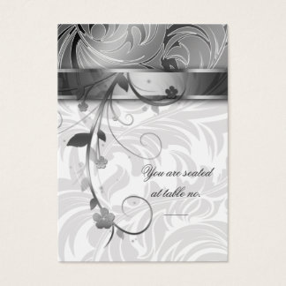 Elegant Silver Anniversary Table Seating Card