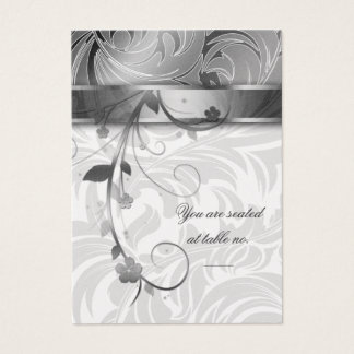 Elegant Silver Anniversary Table Seating Card 2