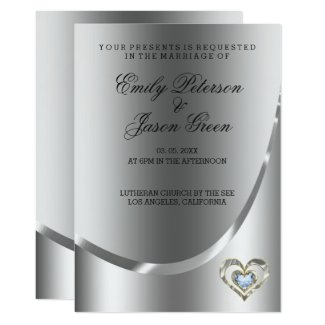 Elegant silver Background And Diamonds Heart
