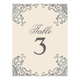 Elegant Silver Beige Wedding Table Cards