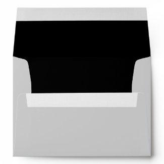 Elegant Silver Black Linen Envelopes