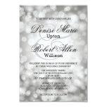 Elegant Silver Bokeh Wedding Invitation