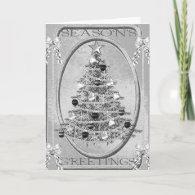 Elegant Silver Christmas Card