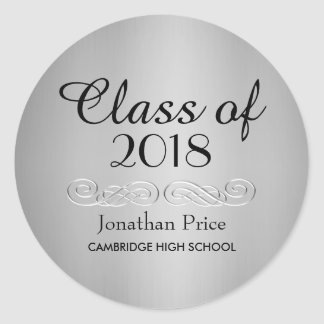 Elegant Silver Class of Graduation Envelope Seals