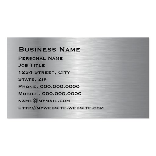 Elegant Silver Corporate Business Card (back side)