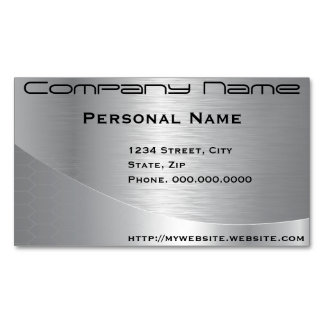 Elegant Silver Corporate Business Card Magnet