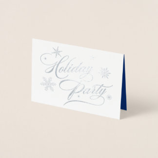 Elegant Silver Corporate Holiday Party Invitation