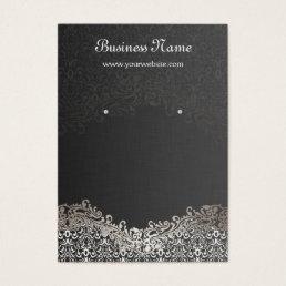 Elegant Silver Damask Earring Display Cards