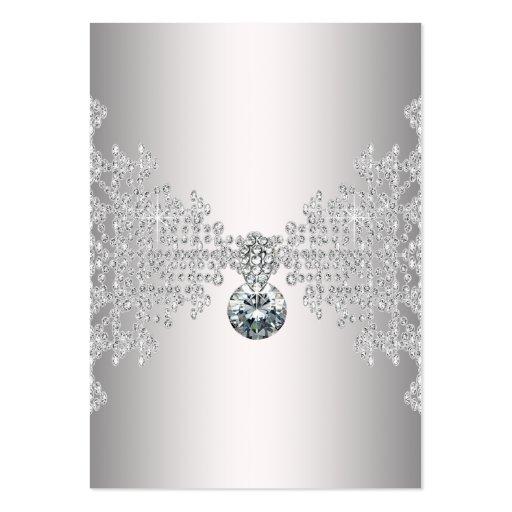 Elegant Silver Diamond Business Card Template