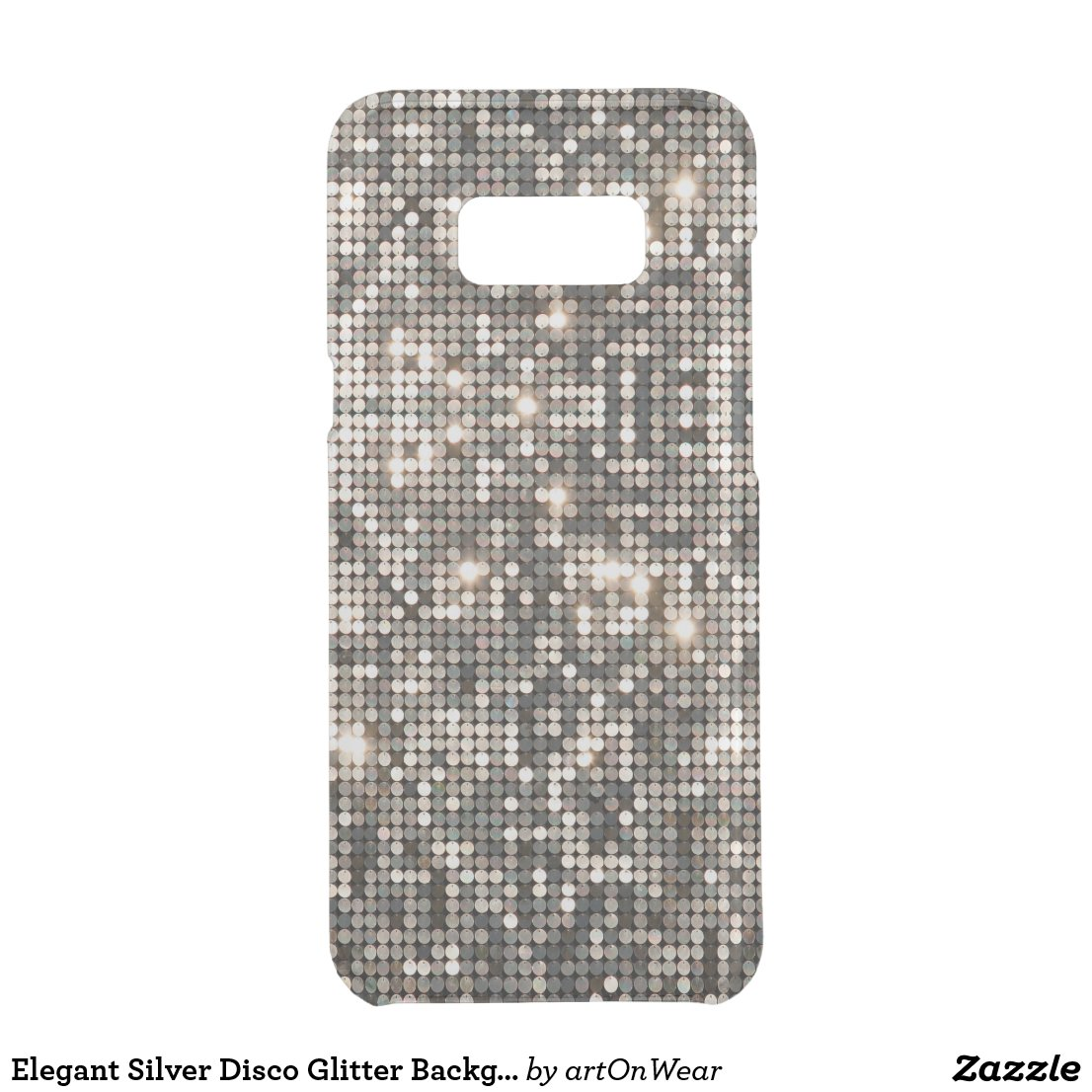 Elegant Silver Disco Glitter Background