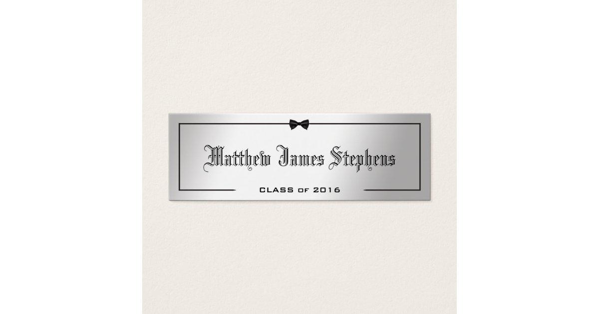 graduation name card inserts