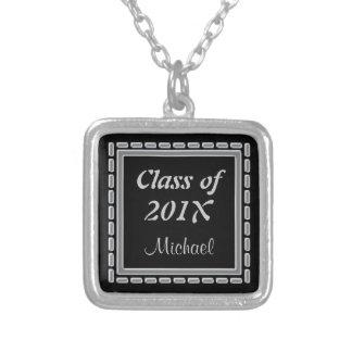 Elegant Silver Frame Graduate Necklace