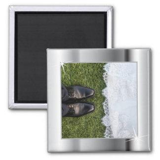 Elegant Silver Frame Magnet