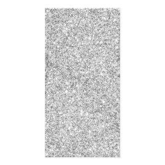Elegant Silver Glitter Card