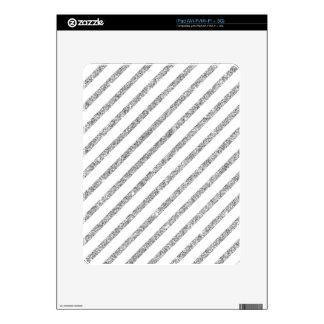 Elegant Silver Glitter Diagonal Stripes Pattern iPad Skin
