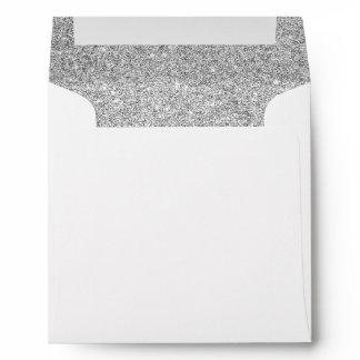 Elegant Silver Glitter Envelope