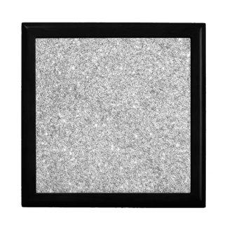 Elegant Silver Glitter Gift Box
