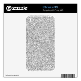 Elegant Silver Glitter iPhone 4 Decal