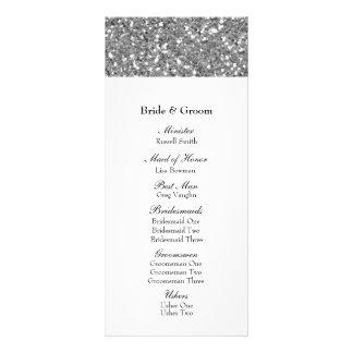 Elegant Silver Glitter Look Wedding Program