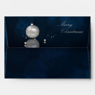 Elegant Silver Glitter Ornament - Envelope A7