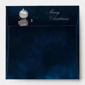 Elegant Silver Glitter Ornament - Envelope Square
