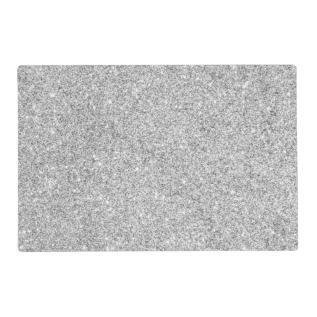 Elegant Silver Glitter Placemat at Zazzle