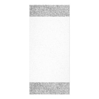 Elegant Silver Glitter Rack Card