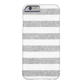 Elegant Silver Glitter Stripes iPhone 6 case