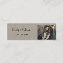 Elegant Silver Graduation Name Card
