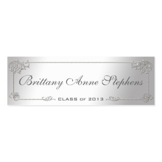Elegant Silver Graduation Name Card Insert Business Card Templates
