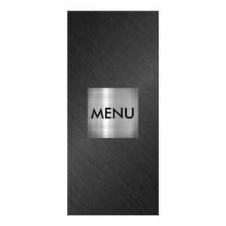 Elegant Silver Gray Black Menue Chic Rack Card
