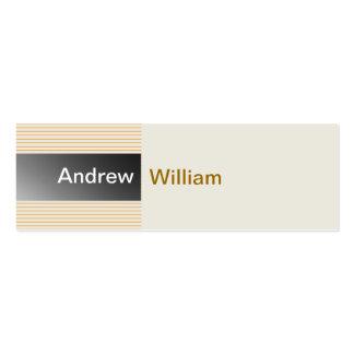 Elegant Silver Grey Mini Business Card
