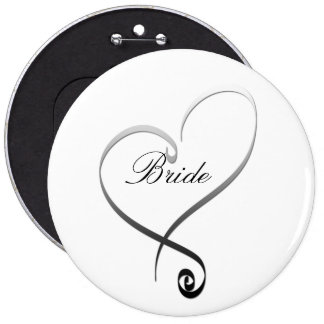 Elegant silver heart DIY Template Pins