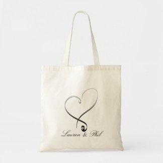 Elegant silver heart DIY Template Tote Bag