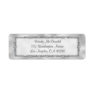 Elegant Silver Jeweled Return Address Labels