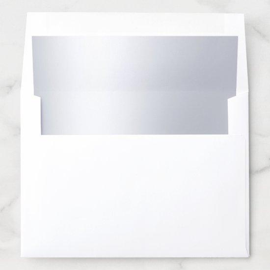 Elegant Silver Look Modern Glamorous Plain Envelope Liner