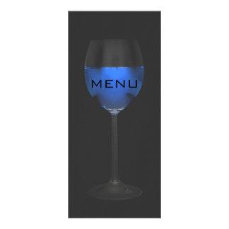 Elegant Silver Magic Blue Wine Black Menue Chic Rack Card